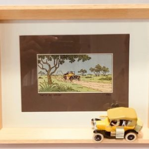 """Vignette """"Tintin"""" idée de cadeau pour les amateurs de Tintin ."""