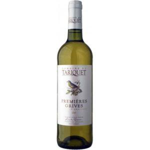 Vin blanc Tariquet premières grives en stock au Clos 47 près de Laon.