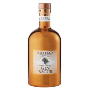 BACUR DRY GIN BOTTEGA - Très bon gin artisanal italien.
